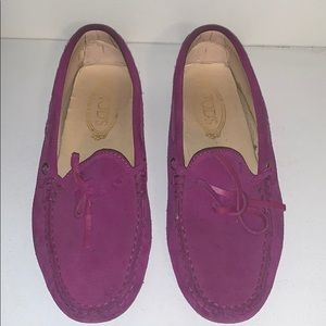 Tod's pink/purple loafers